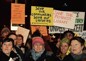 Feminist Library Protest at Southwark Council