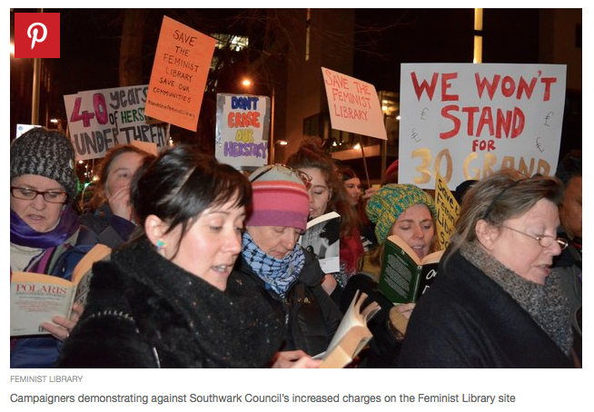 Feminist Library Protest Photo. Feminist Library / Huffington Post