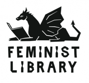 Feminist Library new logo - designed by Anna Lincoln